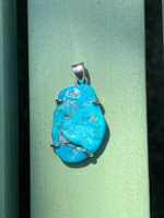 Turquoise set in silver (117676)