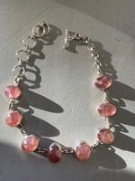 Strawberry quartz bracelet (117681)