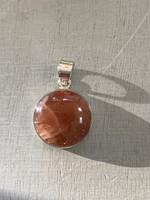 Strawberry quartz set in silver (117685)
