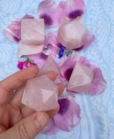 Rose quartz platonic solid set (117745)