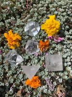 Clear quartz platonic solid set (117750)