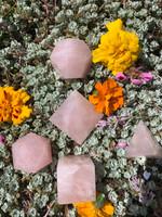 Rose quartz platonic solid set (117751)