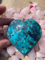 Chrysocolla heart (117822)