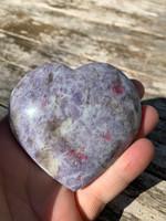 Lepidolite & Pink tourmaline heart (118002)