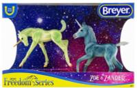 Breyer Horses Zoe & Zander Unicorn Foals 1:12 Classic Scale 62206