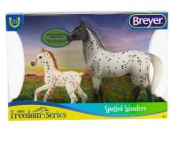 Breyer Horses Knabstrupper & Foal Spotted Wonders 1:12 Classic Scale 62207