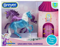 Breyer Mystery Unicorn Foal Surprise A - Mare Stallion & Foal 1:32 Scale 6062