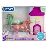 Breyer Mystery Unicorn Foal Surprise B - Mare Stallion & Foal 1:32 Scale 6063
