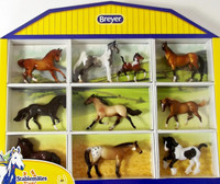 Breyer Horses - Stablemates Horse Crazy Shadow Box 10 Horses - 1:32 Scale 5425