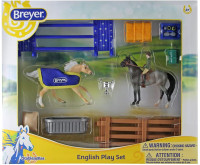 Breyer Horses Stablemates English Horse Play Set 1:32 Scale 6027