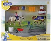 Breyer Horses Stablemates Western Horse Play Set 1:32 Scale 6026