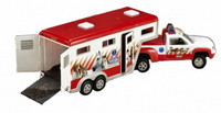 Breyer Horses- Animal Rescue Truck & Trailer RED -Stablemates 1:32 Scale 5352