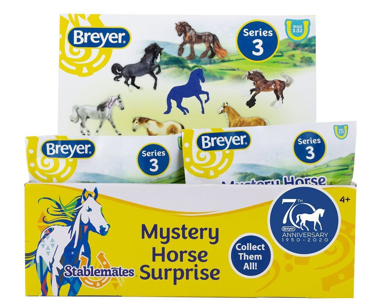 Breyer Horses Stablemates 70th Anniversary Blind Bag Box Of 24 Bags 1 32 Scale 6065 Model Horses