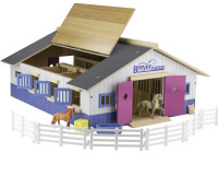 Breyer Horses Farms Deluxe Wood Stable Play Set 1:32 Stablemates Scale 59215