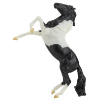 Breyer Horses Black Pinto Mustang Rearing  1:12 Classic Scale 961