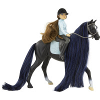Breyer Jet Thoroughbred Horse & English Rider Charlotte 1:12 Classic Scale 61145