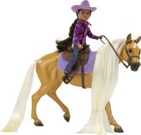 Breyer Charm Palomino Quarter Horse  & Western Rider Gabi 1:12 Classic Scale 61146