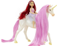 Breyer Horses Magical Unicorn Sky & Fantasy Rider Meadow  1:12 Classic Scale 61147