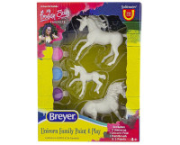 Breyer Horses Unicorn Family Paint & Play Activity Set 1:32 Stablemates Scale