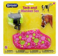Breyer Horses Western Saddle Tack &  Blanket Set, Pink Flowers Classic 1:12 Scale W61132