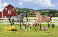 Breyer Horses A Champion is Born Arabian Stallion, Mare & Foal  Classic 1:12 Scale 61087