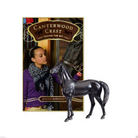 Breyer Horses Canterwood Crest: Behind The Bit Black Jack Stick Horse Classic 1:12 Scale 6172