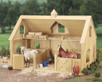 Breyer Horses Deluxe Barn Wood Stable with Cupola Traditional 1:9 Scale