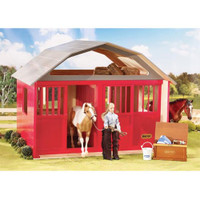 Breyer Horses Deluxe Two-Stall Barn Red Stable Barn Traditional 1:9 Scale 307