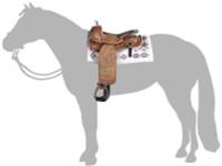 Breyer Horses Cimarron Western Pleasure Saddle Traditional 1:9 Scale 2494