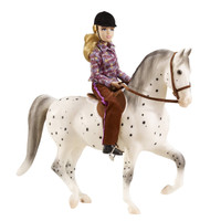 Breyer Horses Lets Go Riding English, Appaloosa Sporthorse + Rider  Traditional 1:9 Scale 1409
