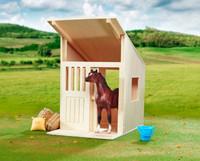 BREYER MODEL HORSES Hilltop Stable Solid Hardwood Stall 1:12 Scale 596