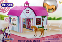 Breyer Horses Horse Crazy Stable Set Stablemates  1:32 Scale 59193