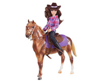 Breyer Horses  Western Horse & Rider Set Classic 1:12 Scale  61116