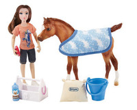 Breyer Horses Bath Time Fun Doll and Pony Wash Set 1:12 Classic Scale  62027
