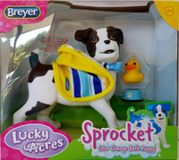 Breyer Horses Sprocket The Dog - Bath Time Colour Changing  Puppy 7198