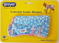 Breyer Horses Colourful Stable Blanket Blue Small Flowers 1:9 Scale W2053SF