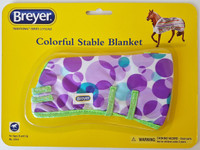 Breyer Horses Colourful Stable Blanket Purple Circles 1:9 Scale W2053PC