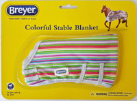 Breyer Horses Colourful Stable Blanket Multi Stripes 1:9 Scale W2053MS