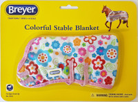 Breyer Horses Colourful Stable Blanket Large Flowers 1:9 Scale W2053LF