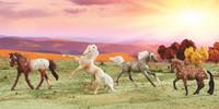 Breyer Horses Dapples & Dots 4 Stablemates Horse Set 1:32 Scale 6036