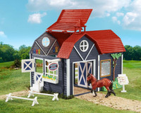 Breyer Horses Riding Camp Barn + Horse + Accessories 1:32 Stablemates 59212