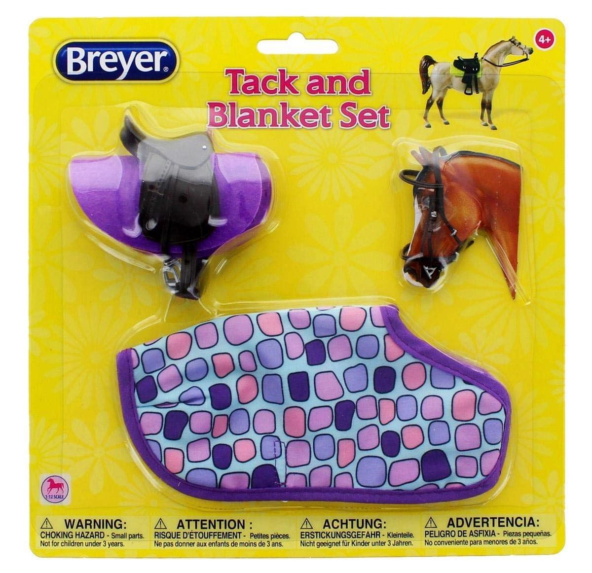 Breyer Horses English Saddle Tack Blanket Set Purple Dots Classic 1 12 Scale W61130 Model Horses