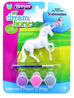 Breyer Horses Unicorn Paint & Play Activity Type A 1:32 Stablemates Scale