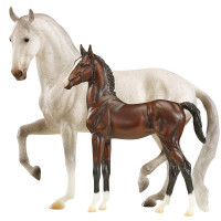 Breyer Horses Favory Airiella Lipizzan Mare & Foal 1:9 Traditional Scale 1827