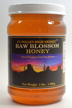 Raw Blossom Honey 3 lb Jar