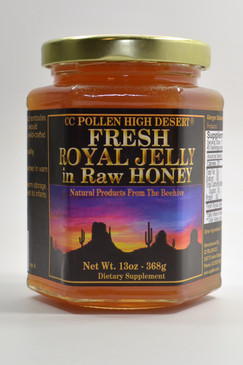 Raw Honey with Royal Jelly 13 oz