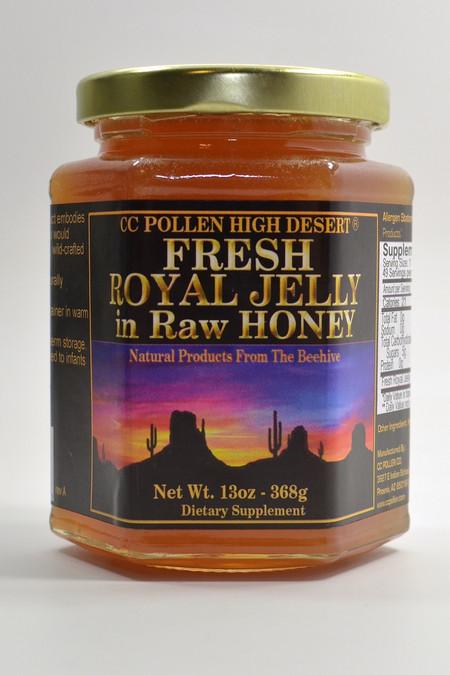 Raw Honey with Royal Jelly 13 oz