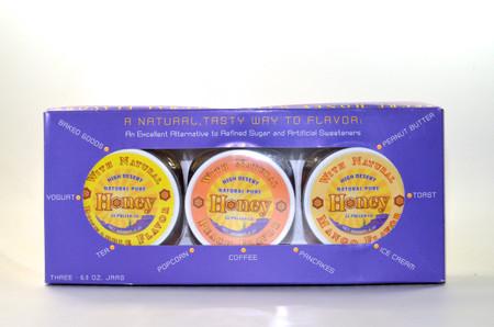 Flavored Honey Gift Packs - Peach, Mango, Pineapple