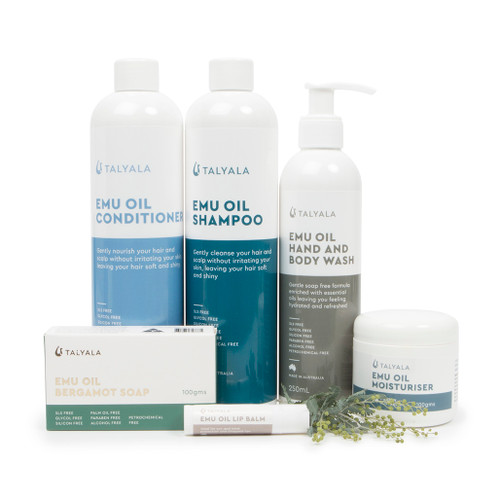 Pack Four: Shampoo, Conditioner, Body Wash, Moisturiser, Soap & Lip Balm
