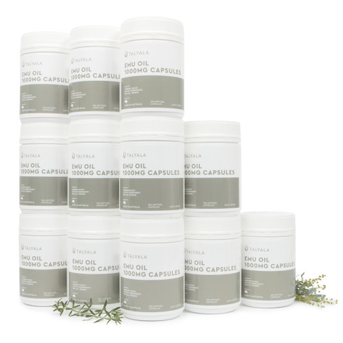 Special: 12 x Jars 1000mg Emu Oil Capsules